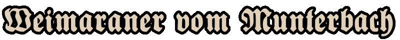 Schriftzug Weimaraner